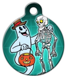 Dog Tag Art Spooky Friends Pet ID Dog Tag