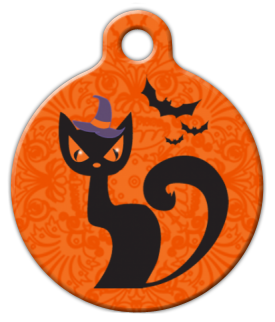 Dog Tag Art Witchy Cat Pet ID Dog Tag