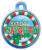 Dog Tag Art Kinda' Naughty Pet ID Dog Tag
