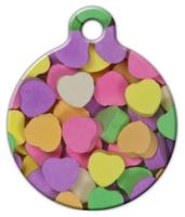 Dog Tag Art Candy Hearts Pet ID Dog Tag