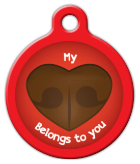 Dog Tag Art My Heart Belongs to You Pet ID Dog Tag