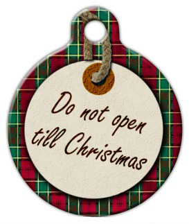 Dog Tag Art Do Not Open Christmas Pet ID Dog Tag