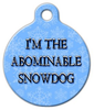 Dog Tag Art The Abominable Snowdog Pet ID Dog Tag