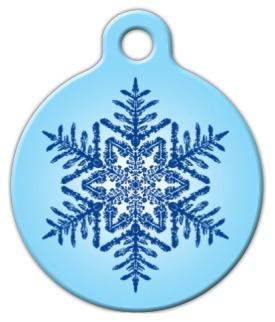 Dog Tag Art Snowflake Pet ID Dog Tag