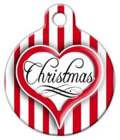 Dog Tag Art Christmas Heart Pet ID Dog Tag