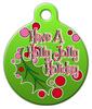 Dog Tag Art Holly Jolly Holiday Pet ID Dog Tag