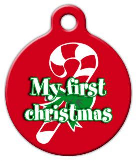 Dog Tag Art My First Christmas Pet ID Dog Tag