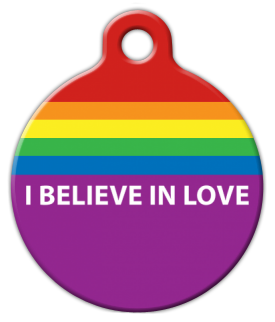 Dog Tag Art Believe in Love Pet ID Dog Tag