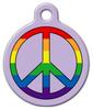 Dog Tag Art Rainbow Peace for Pets Pet ID Dog Tag