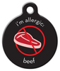 Dog Tag Art Beef Allergy Pet ID Dog Tag