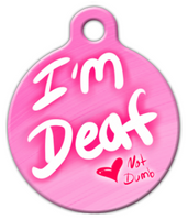 Dog Tag Art Deaf Babe Pet ID Dog Tag
