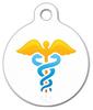 Dog Tag Art Gold Caduceus Medical Pet ID Dog Tag
