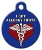 Dog Tag Art Allergy Shots Medical Pet ID Dog Tag
