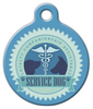 Dog Tag Art Blue Service Pet ID Dog Tag