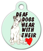 Deaf Dog Pet ID Dog Tag
