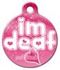 Dog Tag Art Deaf Cutie Pet ID Dog Tag