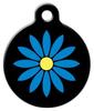 Dog Tag Art Blue Flower Pet ID Dog Tag