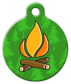 Dog Tag Art Campfire Pet ID Dog Tag