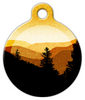 Dog Tag Art Golden Mountains Pet ID Dog Tag