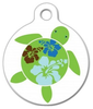 Dog Tag Art Hawaiian Hibuscus Turtle Pet ID Dog Tag