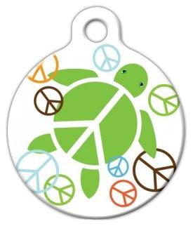 Dog Tag Art Peace Turtle Pet ID Dog Tag