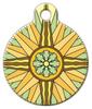 Dog Tag Art Floral Design Compass Pet ID Dog Tag