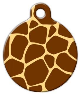 Dog Tag Art Giraffe Pattern Pet ID Dog Tag