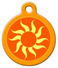 Dog Tag Art Orange Sun Pet ID Dog Tag