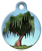 Dog Tag Art Willow Tree Pet ID Dog Tag