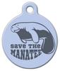 Dog Tag Art Manatee Conservation Pet ID Dog Tag
