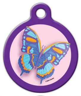 Dog Tag Art Butterfly Pet ID Dog Tag