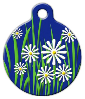 Dog Tag Art Daisy Pet ID Dog Tag
