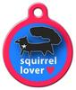 Dog Tag Art Black Squirrel Lover Pet ID Dog Tag