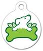 Dog Tag Art Green Paw Pet ID Dog Tag