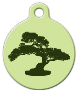 Dog Tag Art Bonsai Tree Pet ID Dog Tag
