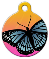 Dog Tag Art Butterfly Sunset Pet ID Dog Tag