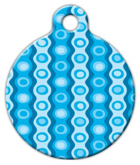 Dog Tag Art Blue Polyester Pattern Pet ID Dog Tag