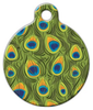Dog Tag Art Peacock Feathers Pet ID Dog Tag