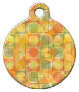 Dog Tag Art Geometrics Pet ID Dog Tag