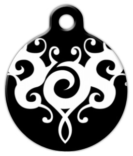 Dog Tag Art Black and White Tattoo Pet ID Dog Tag