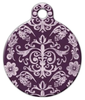 Dog Tag Art Purple Baroque Pet ID Dog Tag