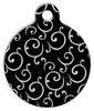 Dog Tag Art Black and White Swirls Pet ID Dog Tag