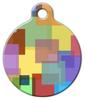 Dog Tag Art Color Squares Pet ID Dog Tag