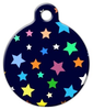 Dog Tag Art Colorburst Stars Pet ID Dog Tag
