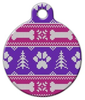 Dog Tag Art Girlie Winter Knit Pattern Pet ID Dog Tag