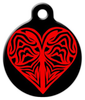 Dog Tag Art Red Lace Heart Pet ID Dog Tag