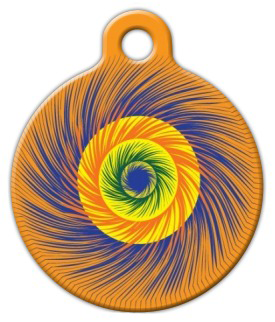Dog Tag Art Swirly Colorful Sprial Pet ID Dog Tag