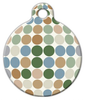 Dog Tag Art Pastel Dots Pet ID Dog Tag