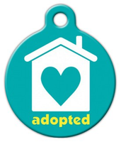 Dog Tag Art Adopted by a Loving Home Pet ID Dog Tag