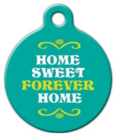 Dog Tag Art Home Sweet Forever Home Pet ID Dog Tag